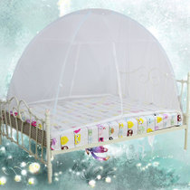 幸运鸟通用蒙古包蚊帐1.8米 魔术蚊帐 蚊帐1.8 床上用品 免安装 价格:45.04