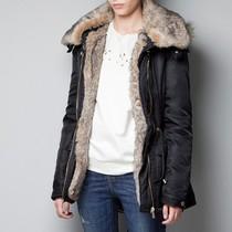 Z牌定单2013新款 冬装加厚连帽毛领外套棉袄工装棉衣棉服女款大码 价格:188.00