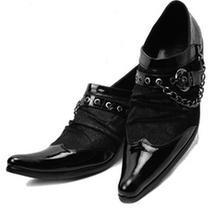 2013新款正品真皮低帮尖头皮鞋 马毛商务时尚休闲日式男鞋单鞋子 价格:558.00
