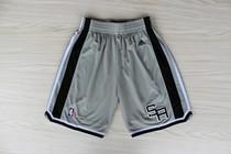 正品(附小票) NBA球裤 马刺队 邓肯短裤 吉诺比利 帕克篮球裤 灰 价格:265.00