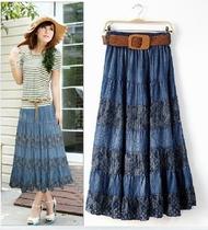 新款牛仔裙时尚长裙休闲半身裙 修身裙子 韩版女装 雪纺 淑女拖地 价格:95.00