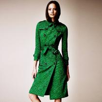 早买早优惠 英伦B家女装风衣双排扣蕾丝风衣精美蕾丝 长款风衣女 价格:508.30