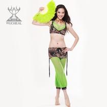 最新款肚皮舞服饰服装印花网纱搭配练习套装表演套装俏丽佳人 价格:196.20