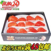 尚购24鲜果 精品草莓全年不断货酸甜草莓新鲜草莓2盒水果北京包邮 价格:29.80