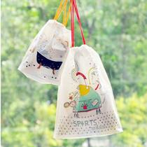 韩国outdoor air mail pack无纺布收纳袋 旅行抽绳袋 3枚入88包邮 价格:12.00