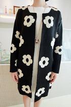2013秋装新款韩版名媛小香风花朵宽松长袖针织开衫C959 价格:98.10