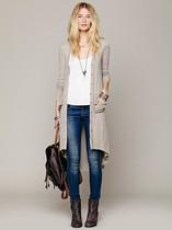 快乐推荐!长款时尚有范的针织开衫 两色【快乐家】 价格:168.00