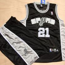 包邮透气NBA球衣 马刺队21号邓肯网眼刺绣篮球服套装9号帕克战衣 价格:65.00