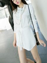 美芭女士秋装2013新黑白经典气质立领粗雪纺长袖 衬衫 女衬衣 C21 价格:25.00