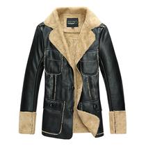 2013新款 奢华皮毛一体皮衣  韩版修身男装翻领加厚加毛皮衣外套 价格:268.00