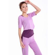 正品菩尔瑜伽服新款套装春夏款愈加服中袖瑜珈服健身服三件套特价 价格:96.00