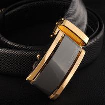 马克伯尼正品商务休闲男士真皮牛皮自动扣皮带男式腰带时尚钻石纹 价格:118.00
