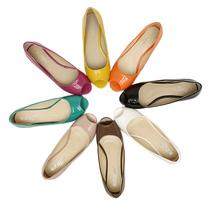 小码3334 单鞋女坡跟低跟 百搭通勤OL工作鞋春季鱼嘴漆皮糖果色 价格:48.00