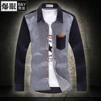 2013秋款男士长袖衬衫加肥加大码中国风衬衣原创设计个性时尚衣服 价格:99.20