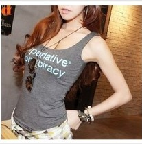 韩国代购正品夏季女装新款时尚性感打底背心小字母背心小吊带 价格:25.00