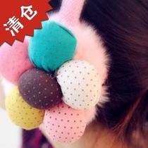 沪68包邮韩国新款花朵暖暖仿兔毛粗架子护耳套女耳罩耳暖秋冬必备 价格:15.80