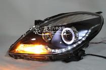 龙鼎新阳光天使眼双光氙气透镜LED泪眼大灯总成 升级HID疝气大灯 价格:950.00