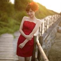 名贵风格2013新款红色新娘结婚敬酒服 蕾丝短款伴娘服新娘晚礼服 价格:105.00