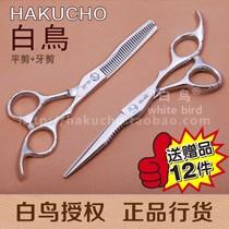 白鸟剪刀 正品平剪牙剪 专业美发剪刀套装 理发剪子 包邮 价格:115.00