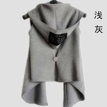 秋装新款马夹韩版女装 原单宽松针织开衫大码披肩毛衣外套马甲 价格:33.00
