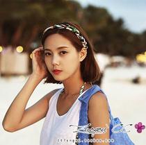 韩国进口dahong印花绸带丝缎瑞丽风度假波西米亚发带麻花01259 价格:47.00