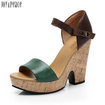 joy-peace/真美诗牛皮ZRM09BL2夏季女皮凉鞋 价格:294.40