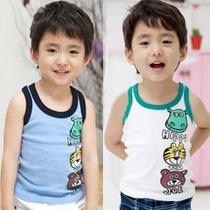 2013夏装新款童装 卡通动物印花儿童宝宝男童女童无袖T恤背心6288 价格:11.50