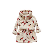 原单水貂绒儿童浴衣水貂绒儿童浴袍中小童睡衣水貂绒浴衣100-150 价格:57.80