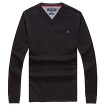 Tommy Hilfiger 汤米·希尔费格 男士简约长袖套头V领纯棉针织衫 价格:249.00