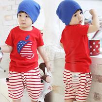 特价2013夏装韩版新款男童装女童装宝宝儿童短袖中裤套装tz-0711 价格:25.00