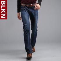 秋冬款男装牛仔长裤男柔软棉质青年男士简约深蓝色牛仔裤 男 直筒 价格:99.00