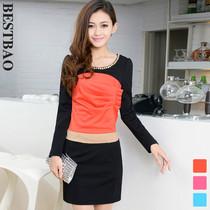 兰佩况珈儿贝拉维拉2013新款专柜秋装针织连衣裙台湾3f国际正品牌 价格:118.00