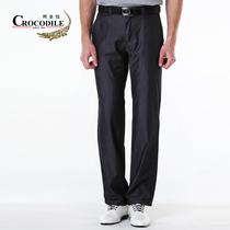 鳄鱼恤CROCODILE专柜正品 2013秋季新款男装中腰直筒纯色牛仔裤 价格:259.00