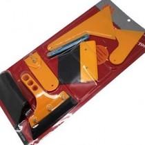 汽车美容贴膜工具套装七件套橡胶牛筋太阳防爆膜专用刮刀贴膜刮板 价格:18.00