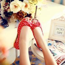 夏季新款凉鞋 女 2013新款鱼嘴鞋 时尚帆布鞋 休闲鞋工作鞋公主鞋 价格:46.45