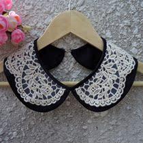 假领子韩国手工波点黑白色森林系复古优雅可爱百搭时尚女衣领新款 价格:24.00