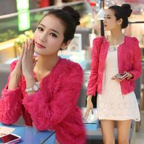 女装春秋装2013新款韩版小外套女立体玫瑰花朵雪纺短外套 WT808 价格:143.10