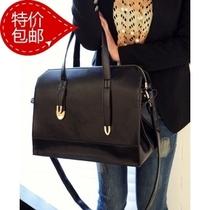 黑色女包新品大包包2013百魅潮女欧美女包手提包斜挎蝴蝶结机车包 价格:44.95