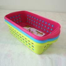 长百居优品 桌面塑料储物篮收纳篮收纳筐收纳框多用篮 健安5032 价格:3.00