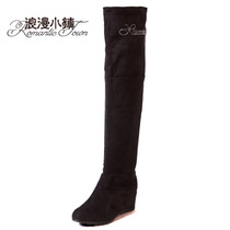 浪漫小镇秋冬高筒靴超长靴女过膝靴平底长筒靴内增高棉靴时尚靴子 价格:99.00