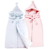 婴儿披风儿童披肩宝宝斗篷外套 秋冬季纯棉小孩外出披风冬款加厚 价格:69.00