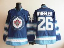 NHL球衣 冰球服 温伯尼喷气机队 Winnipeg jets #26 WHEELER 蓝色 价格:100.00