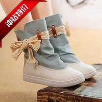 2013新款学生系带透气帆布鞋 女 韩版 短靴潮 平底女鞋帅气 女生 价格:41.00
