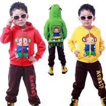 童装秋冬季新款2013男童女童大嘴猴开身套装儿童运动服装韩版园服 价格:75.65