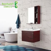 贝威斯卫浴 100%实木浴室柜 简约实用 实木卫浴吊柜洗手盆855 价格:1275.00