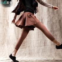 茵曼 2013秋装新款 苎麻假两件拼接打底裤弹力 裙裤 VC8310990688 价格:279.00