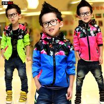 韩国儿童男孩宝宝衣服Y13244小贝童装 男童秋装2013新款 潮品外套 价格:75.00