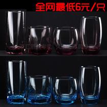 【久酒汇】弓箭乐美雅 水具 玻璃饮料杯 水杯果汁杯方杯 圆杯彩色 价格:6.00