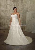 大码婚纱礼服胖妹妹显瘦婚纱定做时尚优雅抹胸高腰齐地小拖尾婚纱 价格:1580.00