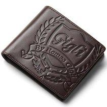 日本正品代购RomeoGigli罗密欧吉利压花钱包男士真皮商务短款钱夹 价格:980.00